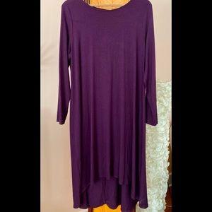 EILEEN FISHER Long Purple Dress XL